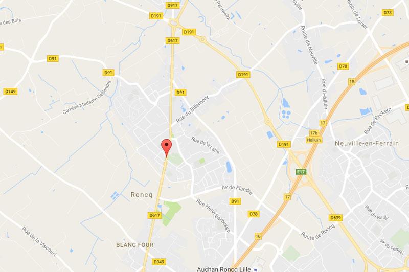 Carte de Roncq